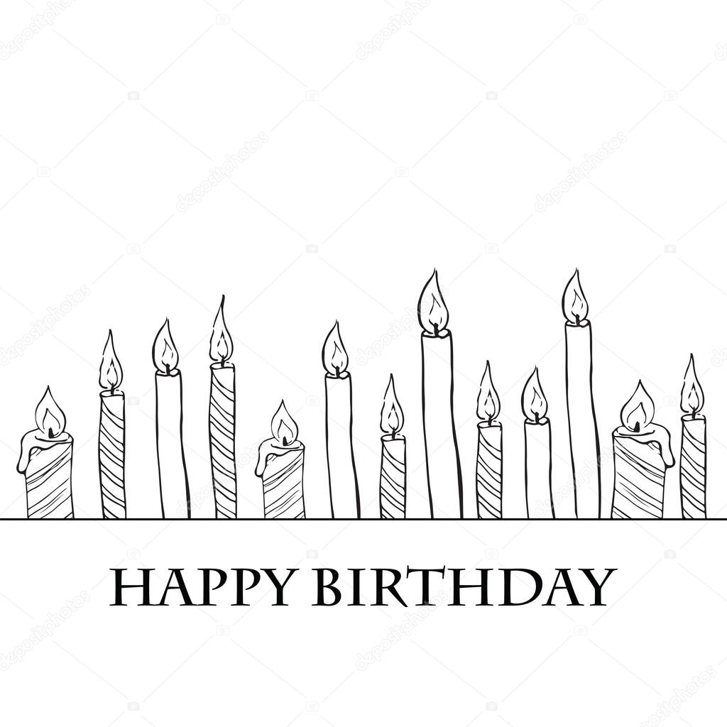 Birthday Candles — Stock Vector © golubok_ #19143097