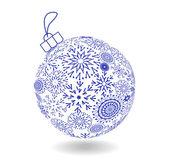 Christmas Ball Of Made Snowflakes — Stock Vector