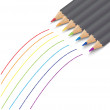 Vector set of colored pencils — Stock Vector #35263755