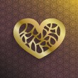 Stylish gold Valentine's heart — Stockvectorbeeld