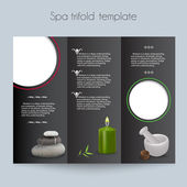 Tri-fold&Spa Brochure&Mock Up — Stock Vector