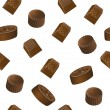 Realistic chololate candy pattern — Vector de stock #39393927