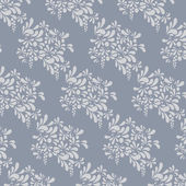 Grey floral pattern. Endless background — Stock Vector