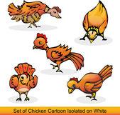 Tavuk kümesi üzerinde beyaz izole — Stok Vektör