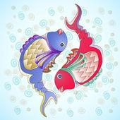 Zwei dekorative fische — Stockvektor