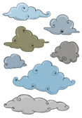 Set of cloud hand draw isolated — Wektor stockowy