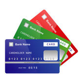Credit cards Vector — Stock Vector