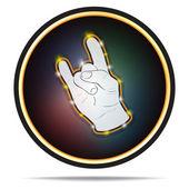 Znamení rukou rock — Stock vektor