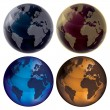 3d Globe - Color set — Stock Vector #41230593