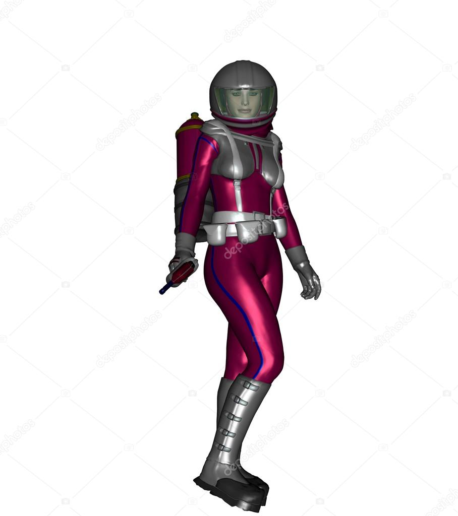 Pink woman in spacesuit stock photo estargraphics for Female space suit