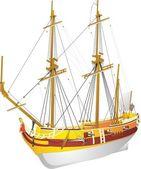 Barque La Belle — Stock Vector