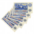 Old Soviet lottery tickets, isolated on white background — Stock Photo #21414469