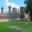 Figured bridge in Tsaritsyno. Moscow. — Stock Photo
