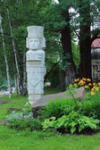 Sculpture in the style of the Maya. Russia. Moscow — Stock Photo