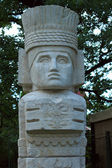 Sculpture in the style of the Maya. Russia. Moscow. Fragment. — Stock Photo