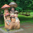 "Stockfoto: Sculpture ""Mushroom Family"". Moscow"