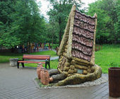 "Sculpture ""The Hut"". Moscow — 图库照片"