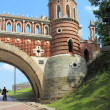 Figured bridge in Tsaritsyno. Moscow. Fragment. — Stock Photo