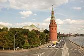Vista do kremlin de moscou. rússia — Fotografia Stock