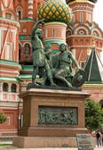 Monument citizen Minin and Prince Pozharsky — Stock Photo