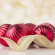 Christmas balls on abstract background. New year decoration — Foto Stock