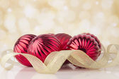 Christmas balls on abstract background. New year decoration — Stock Photo