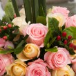Beautiful bouquet of roses at wedding or event - Stock Photo