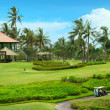 Golf course in luxury resort — Stock Photo