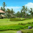 Golf course in luxury resort - Stock Photo