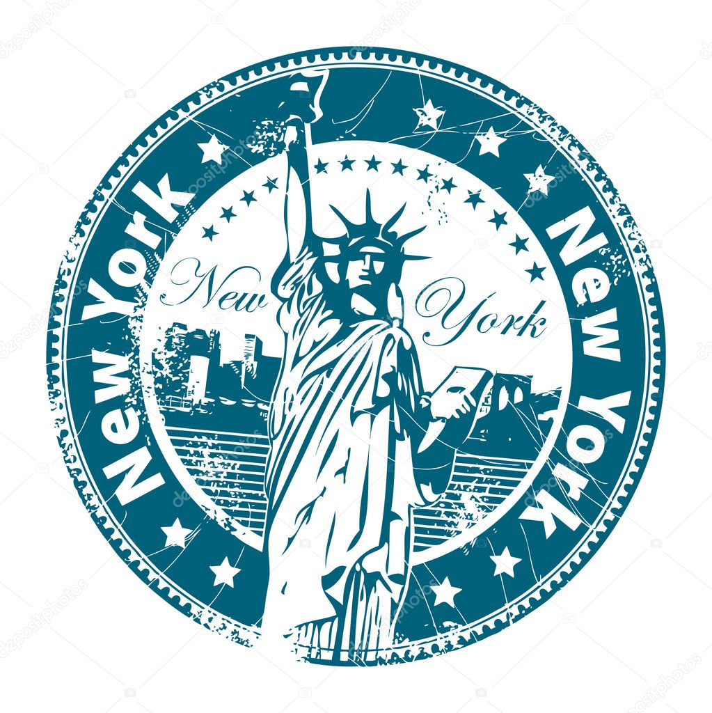 Stamp new york stock vector fla 11398915 for New york state architect stamp