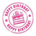 Happy Birthday stamp — Stock Vector #11666238