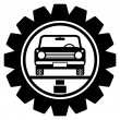 Car service icon — Stockvectorbeeld
