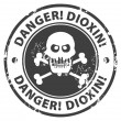 Danger, Dioxin stamp - Stock Vector