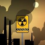 Nuclear danger warning — Stock Vector