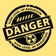 Stock Vector: Nuclear danger stamp
