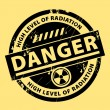 Nuclear danger stamp — Stock Vector