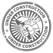 Under construction stamp — Stock Vector #12560625