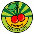 Fruit label — Stock Vector