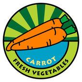 Etichetta di verdure — Vettoriale Stock