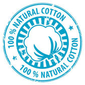 Natural Cotton stamp — Stock Vector