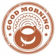 Royalty-Free Stock Vector Image: Good Morning stamp