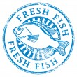 Fresh fish stamp — Stock Vector #12583420
