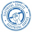 Electrical Service stamp — Stock Vector #12583569