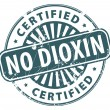 No Dioxin stamp - Stock Vector