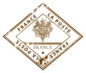 France stamp — Stock Vector