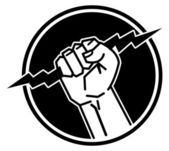 闪电手 — 图库矢量图片