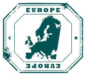 Europe stamp — Vetorial Stock
