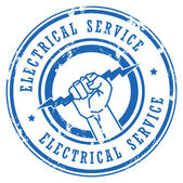 Electrical Service stamp — Stock Vector