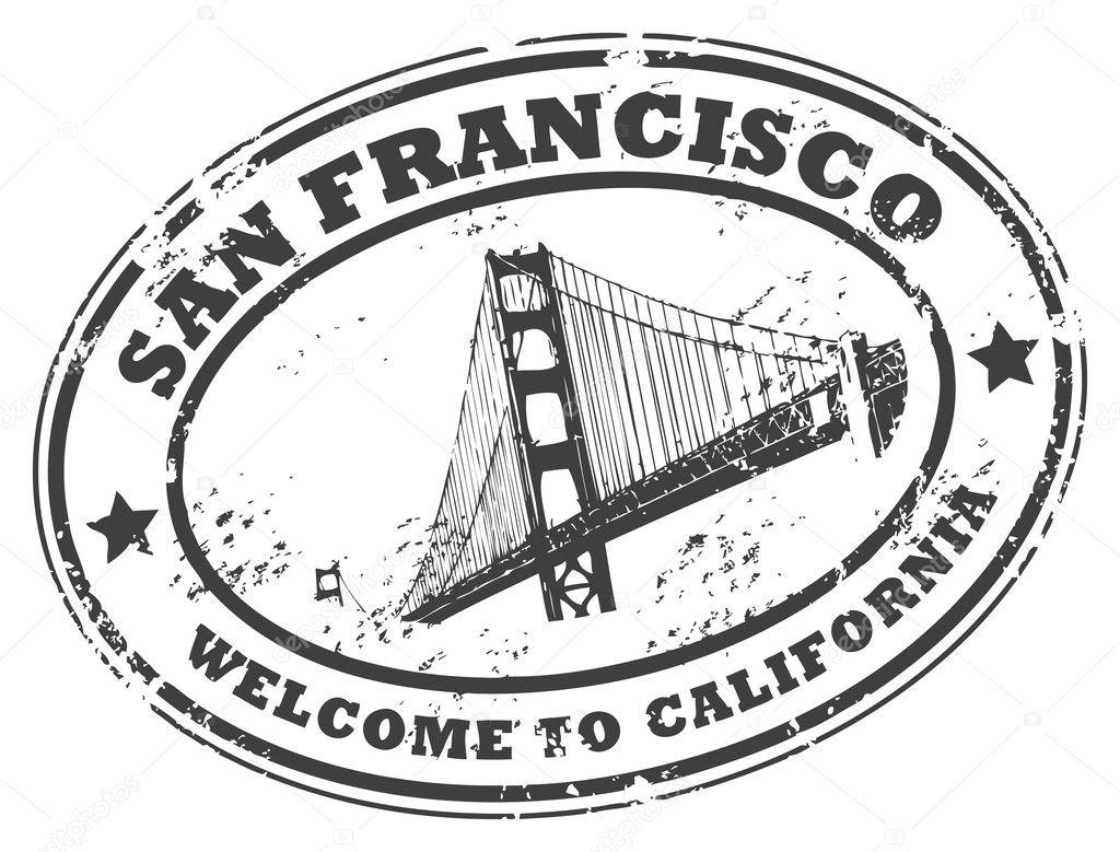 San Francisco Kalifornien Stempel Stockvektor 12583253