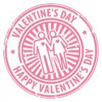 Valentine's Day stamp — Stock Vector